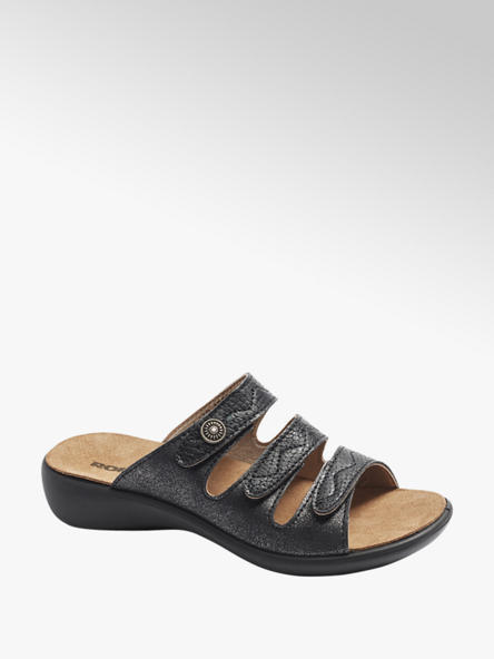 Romika  Zwart metallic slipper velcro