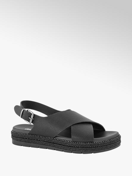 Oxmox Zwarte sandalette gesp