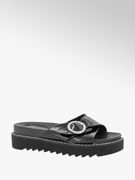 Oxmox Zwarte slipper lak