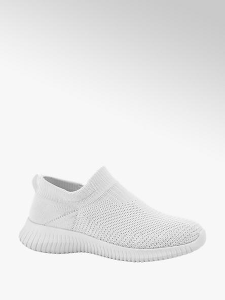 Venice Witte slip-on sneaker knitted
