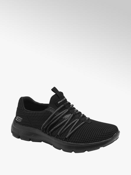 Skechers Zwarte slip-on sneaker