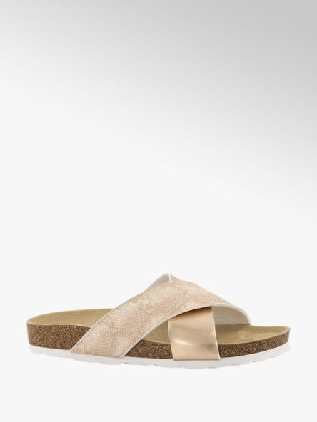 Graceland Rosé gouden slipper