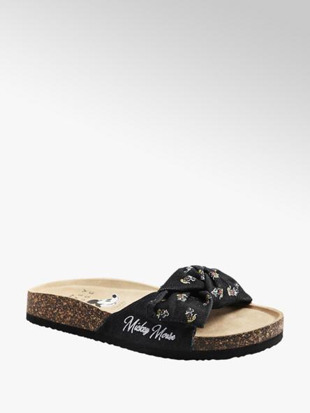 Mickey Mouse Zwarte slipper strik