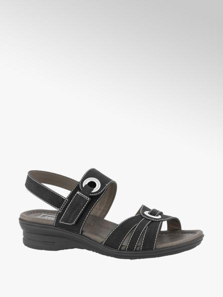 Easy Street Zwarte sandaal velcro