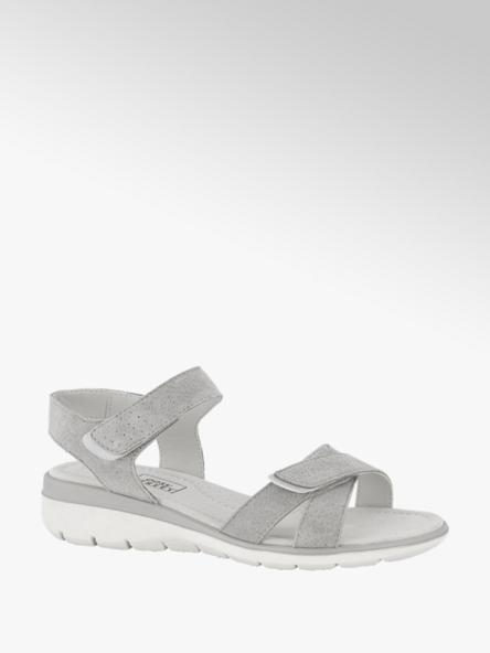 Easy Street Grijze suède sandaal velcro
