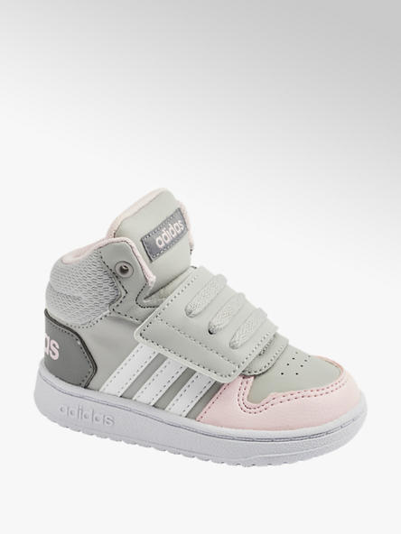 adidas Детски сиви високи кецове adidas HOOPS MID 2.0 I