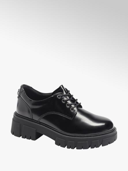 Catwalk Дамски черни обувки с връзки Catwalk