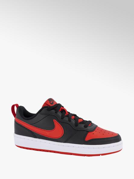 Nike Zwart/rode Court Borough Low