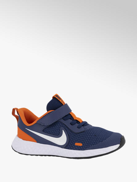 Nike Donkerblauwe Revolution 5 klittenband
