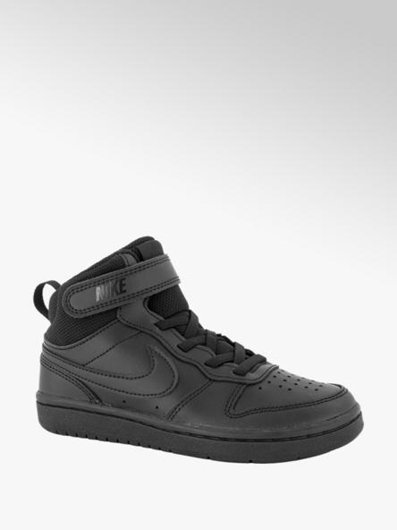 Nike Zwarte Court Borough Mid