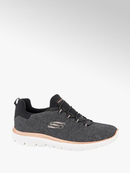 Skechers Donkergrijze slip-on sneaker