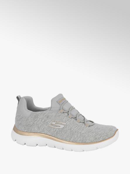 Skechers Lichtgrijze slip-on sneaker