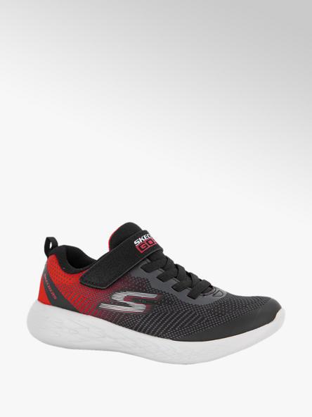 Skechers Zwart/rode sneaker Memory Foam