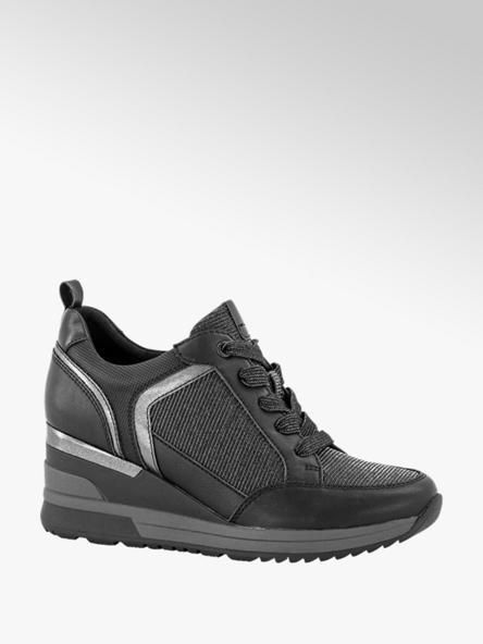 Graceland Zwarte sneaker sleehak