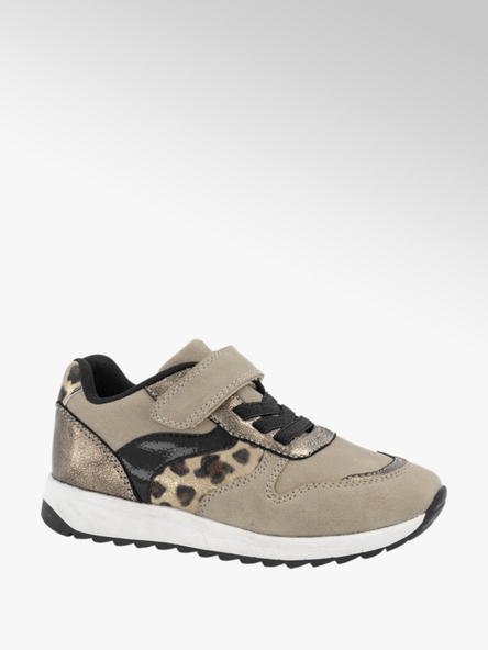 Cupcake Couture Taupe sneaker klittenband