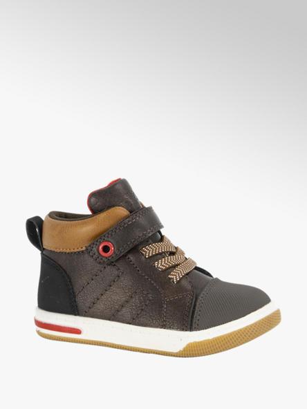 Bobbi-Shoes Donkerbruine halfhoge sneaker