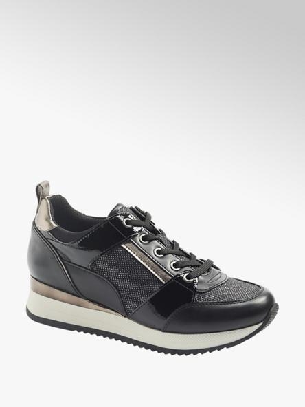 Graceland Zwarte sneaker metallic