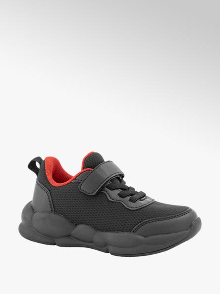 Bobbi-Shoes Zwarte chunky sneaker klittenband