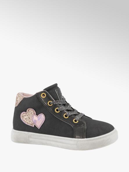 Graceland Grijze sneaker hartjes