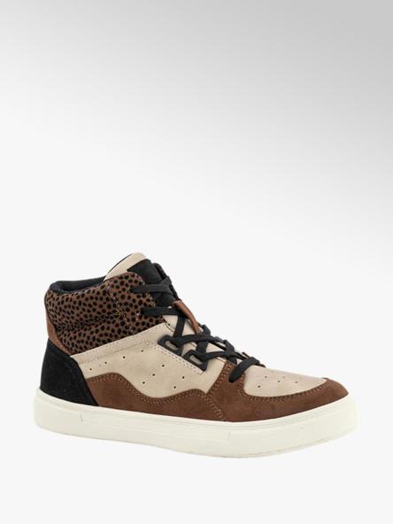 Graceland Bruine sneaker ritssluiting