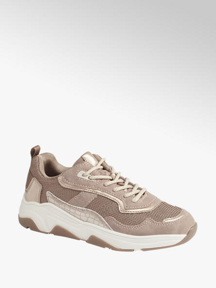 Oxmox Oudroze chunky sneaker metallic
