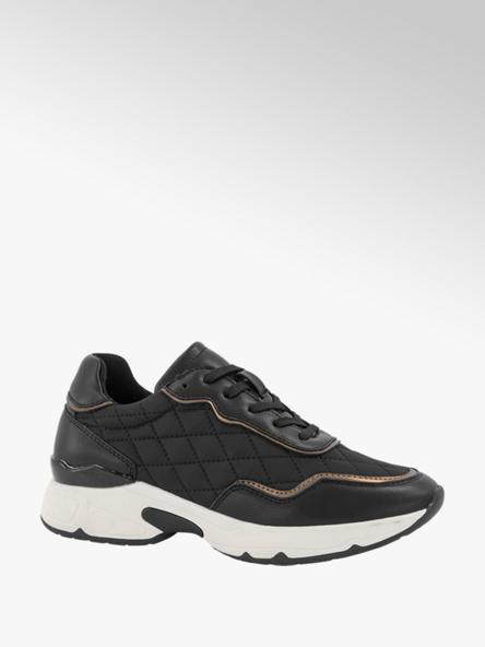 Oxmox Zwarte chuncky sneaker brons