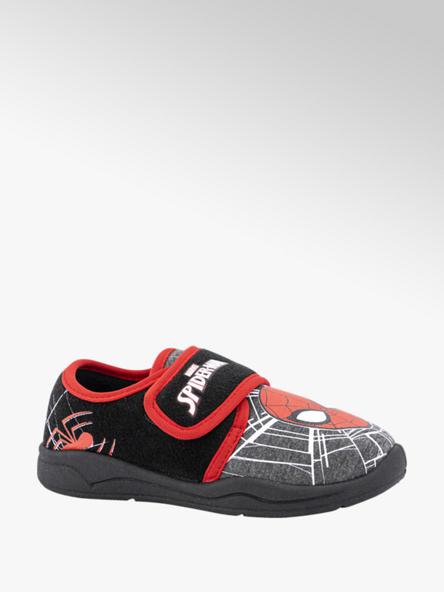 Spiderman Zwarte pantoffel klittenband