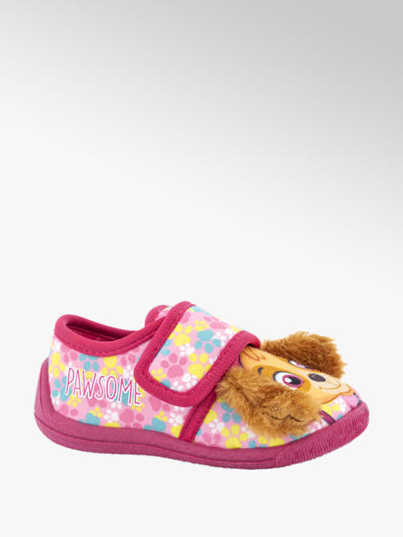 Paw Patrol Roze pantoffel klittenband