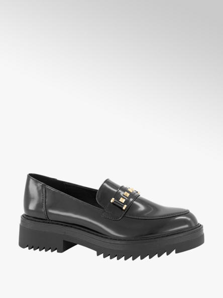 Oxmox Zwarte loafer studs
