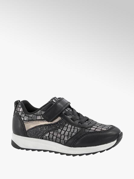 Cupcake Couture Zwarte sneaker krokodillenprint