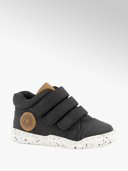 Bobbi-Shoes Zwarte sneaker klittenband