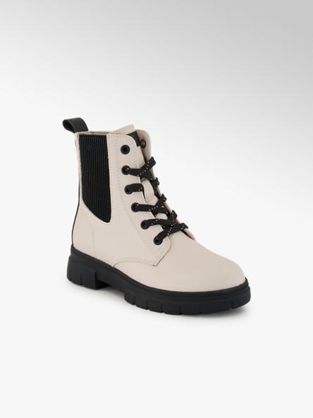 Cupcake Couture Off white veterboot ritssluiting