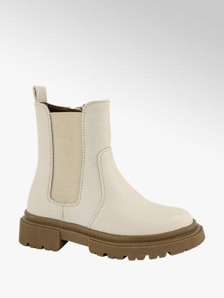 Cupcake Couture Off white chelsea boot ritssluiting