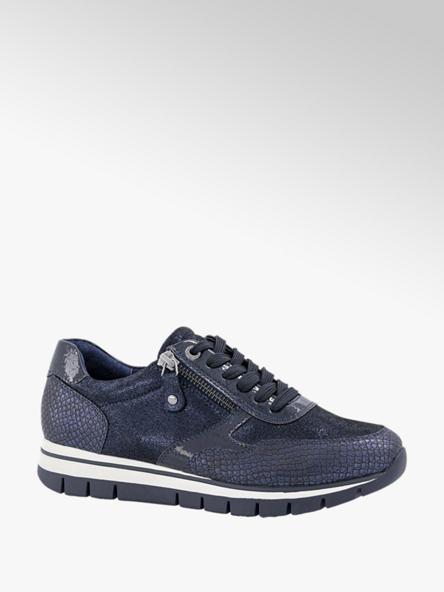 Medicus Donkerblauwe sneaker croco