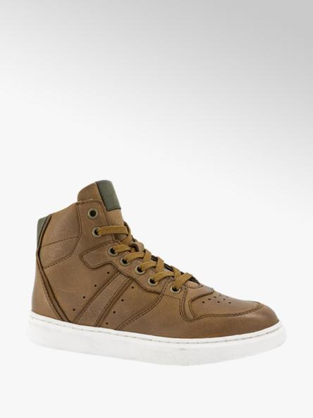 Vty Bruine hoge leren sneaker