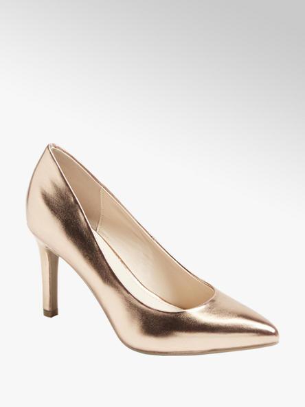 Graceland Дамски златисти обувки с ток Graceland