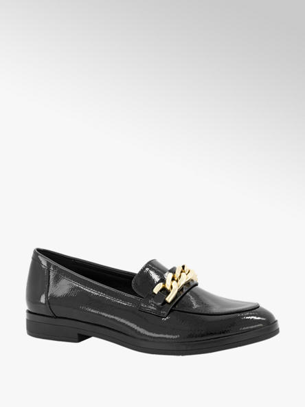 Oxmox Zwarte loafer lak