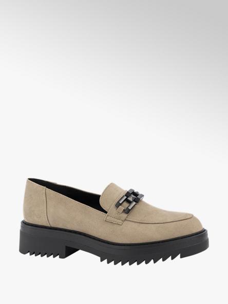 Oxmox Khaki loafer sierketting