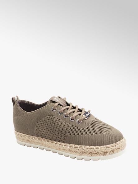 Tom Tailor Дамски бежови текстилни обувки Tom Tailor