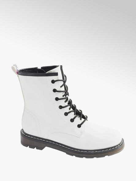 Catwalk Biela šnurovacia obuv so zipsom Catwalk