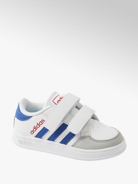 adidas Biele detské tenisky na suchý zips Adidas Breaknet I