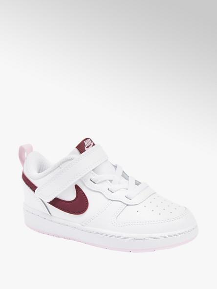 NIKE Biele detské tenisky na suchý zips Nike Court Borough Low 2
