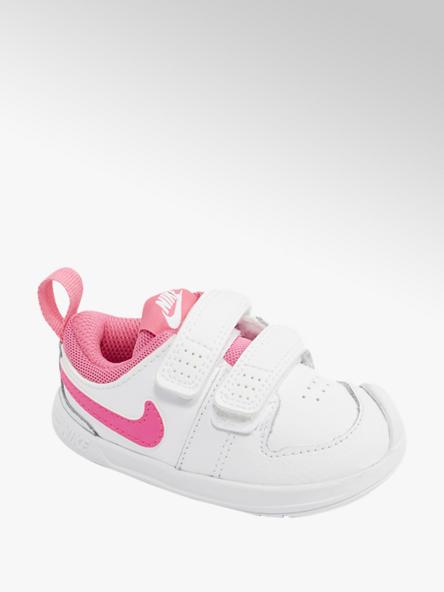 NIKE Biele detské tenisky na suchý zips Nike Pico