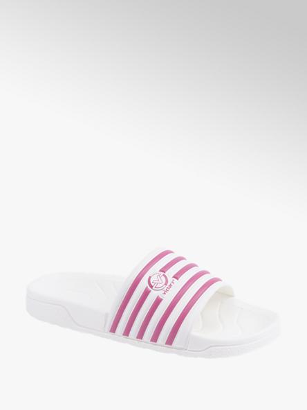 Victory Bielo-ružové plážové šľapky Victory