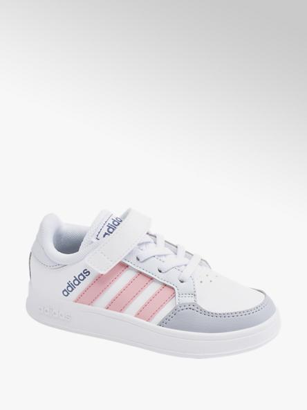 adidas Bielo-sivé tenisky na suchý zips Adidas Breaknet C