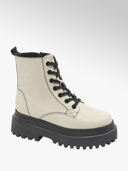 Catwalk Bílá šněrovací obuv se zipem Catwalk