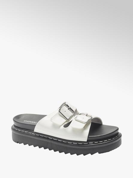 Catwalk Bílo-černé pantofle Catwalk