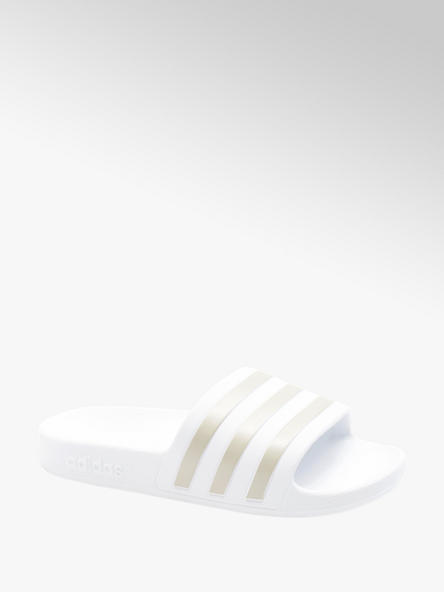 adidas Bílo-zlaté pantofle Adidas Adilette Aqua