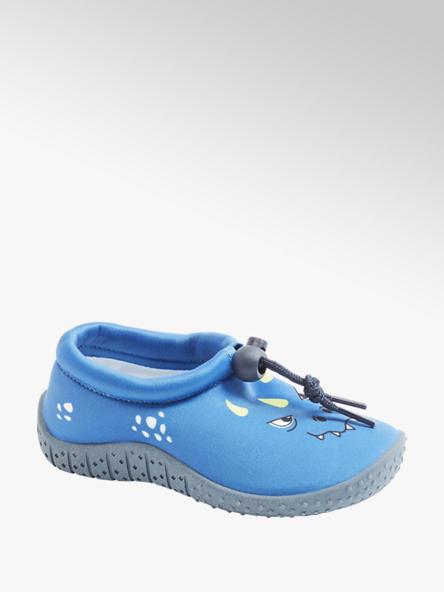 Blue Fin Aqua Socks in Blau mit Print-On