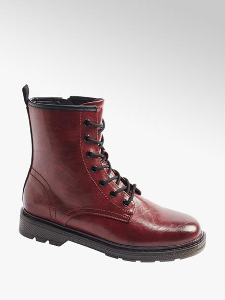 Catwalk Bordó šněrovací obuv se zipem Catwalk